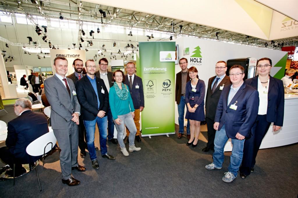 Vergabe des Gruppenzertifikats an die GD Holz Service GmbH